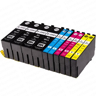 10 Alternative Druckerpatronen zu EPSON T3591XL - T3594XL...