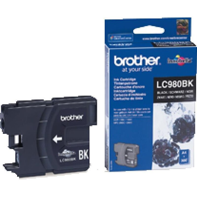 2 Original Brother LC-980BK Black